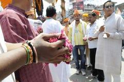 Narendra Modi visite Varanasi Images libres de droits