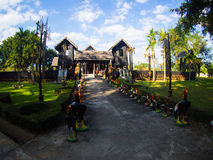 Naresuan国王Stupa了不起的国王Memorial, Chiangdao, Thail 图库摄影