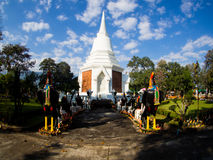 Naresuan国王Stupa了不起的国王Memorial, Chiangdao 图库摄影