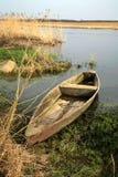Narew National Park – Poland. Wooden boat. Royalty Free Stock Photo