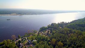 Narew river and Zegrzynski Reservoir by Serock resort near Warsaw, Poland stock video footage