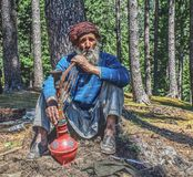 Narghilé di fumo Fotografia Stock