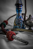Nargile-Hookah With Engraved Equipment Royalty Free Stock Photos