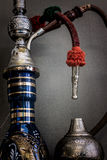 Nargile-Hookah With Engraved Equipment Stock Images
