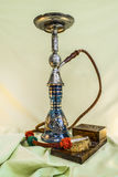 Nargile-Hookah With Engraved Equipment Stock Photos