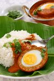Nargisi kofta curry and rice, indian cuisine Stock Photo