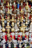 Narguileh shisha water pipes in cairo egypt Royalty Free Stock Images