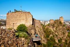 Narikala堡垒在第比利斯,乔治亚 库存照片