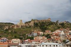 Narikala, Тбилиси стоковые изображения