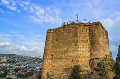 Narikala f?stning i Tbilisi, Georgia arkivfoton