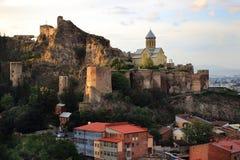 Narikala-Festung in Tiflis Lizenzfreies Stockfoto
