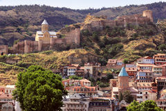 Narikala fortress and Old City in Tbilisi, Georgia Royalty Free Stock Image