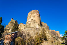 Narikala fortress in the old town of Tbilisi Royalty Free Stock Photo
