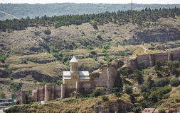 Narikala fortress in Tbilisi Royalty Free Stock Image