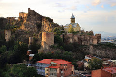 Narikala Fortress in Tbilisi Royalty Free Stock Photo