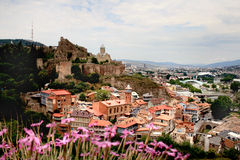 Narikala Fortress in Tbilisi Stock Image