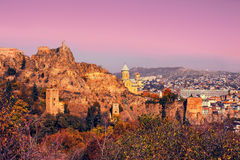 Narikala fortress in Tbilisi Royalty Free Stock Images