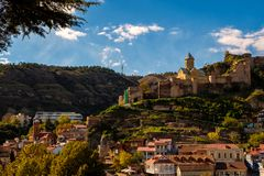 Narikala - a serf complex of different eras in Old Tbilisi.  Stock Images