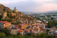 Narikala slott, Tbilisi, Georgia Royaltyfri Fotografi