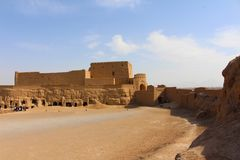 Narin城堡,伊朗看法  免版税库存图片
