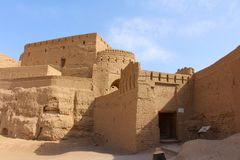 View of Narin Castle, Iran stock images