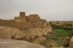 Narin Qal`eh or Narin Castle is a mud-brick fort or castle in th. E town of Meybod, Iran royalty free stock images