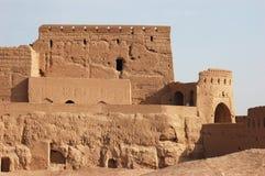 Narin-Schloss in der Stadt von Meybod, IRA Stockbilder