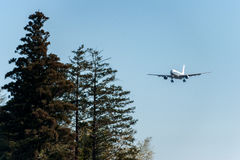 NARITA - JAPÃO, O 25 DE JANEIRO DE 2017: Aterrissagem de B-6549 Airbus A330 Air China no aeroporto internacional de Narita, Japão Foto de Stock Royalty Free