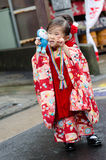 NARITA JAPAN - NOVEMBER 15: Shichi-gå-san i Narita, Japan på N arkivbilder