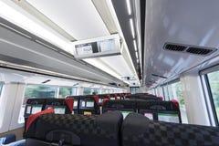 Narita, Japon - 30 septembre 2016 : Intérieur de Narita exprès tout en runnning Images stock