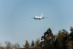 NARITA, JAPONIA -, STYCZEŃ 25, 2017: B-5563 Boeing 737 Xiamen powietrza linie lotnicze Ląduje w Międzynarodowym Narita lotnisku,  Obraz Stock