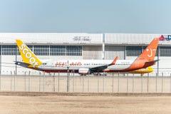 NARITA - LE JAPON, LE 25 JANVIER 2017 : Air de HL8260 Boeing 737 Jeju prêt à décoller dans l'aéroport international de Narita, Ja Image stock