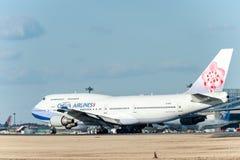 NARITA - LE JAPON, LE 25 JANVIER 2017 : B18212 Boeing 747 China Airlines dans l'aéroport international de Narita, Japon Image libre de droits