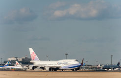 NARITA - LE JAPON, LE 25 JANVIER 2017 : B18212 Boeing 747 China Airlines dans l'aéroport international de Narita, Japon Images libres de droits