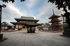 Naritasan temple Narita. The courtyard of a Buddhist temple in Japan Royalty Free Stock Images