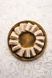 Nariyal Barfi / Coconut Burfi or Khobra Vadi, served in a bowl or plate. Fresh Nariyal Barfi / Coconut Burfi or Khobra Vadi, served in a bowl or plate over Royalty Free Stock Photography