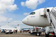 Nariz de Airbus A350-900 XWB em Singapura Airshow Imagens de Stock