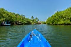 Nariz de la flotación de la canoa Imágenes de archivo libres de regalías