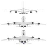 Nariz del aeroplano de los aviones aislado Front View Fotografía de archivo