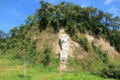 Nariz del diablo na estrada da costa em Equador Imagens de Stock
