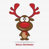Nariz del rojo del reno de Rudolph ilustración del vector