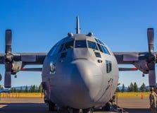 Nariz do grande avião de carga fotografia de stock royalty free