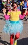 Nariz hermosa del rojo del bailarín Foto de archivo libre de regalías