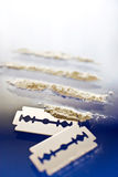 Narkotiskt preparatmissbruk - kokaindrogbruk Arkivbild
