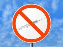 narkotyki nie runda znaku obraz stock