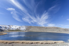 Narli Lake. Turkey. View of Narli lake in Turkey Stock Photo