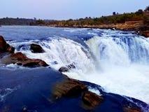 Narmada河瀑布,贾巴尔普尔印度 库存图片