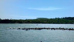Narmada de rivière à Jabalpur photographie stock