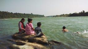 Narmada del río en Jabalpur Fotos de archivo libres de regalías