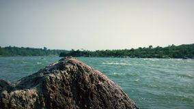 Narmada River side. Enjoyment time with friends and family stock photo